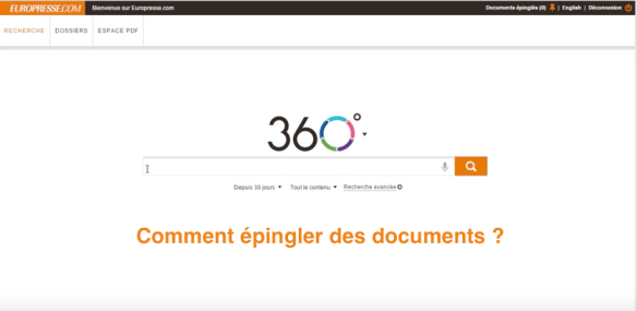 Comment épingler des documents ?