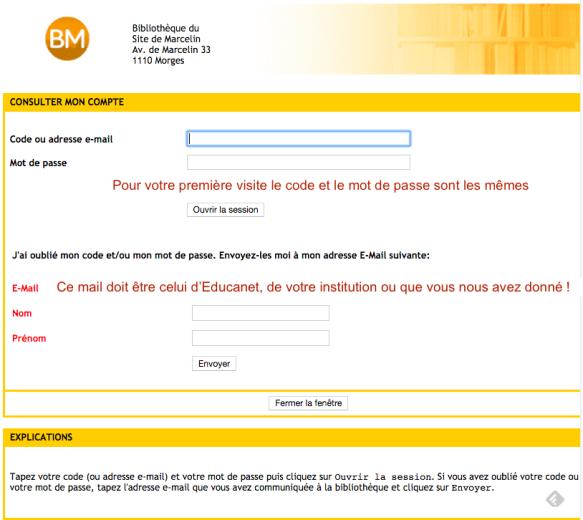 code et mail