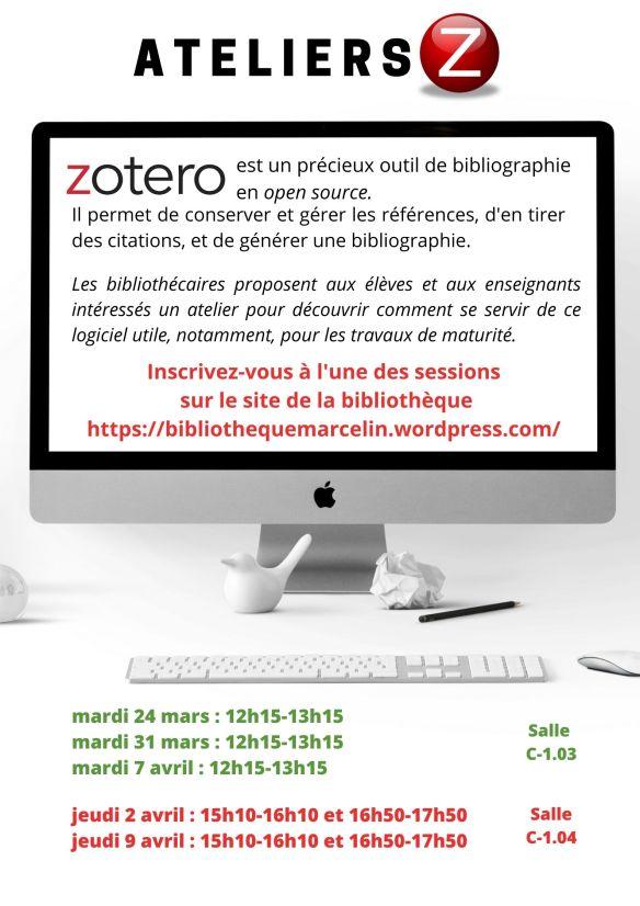 Affiche atelier Zotero